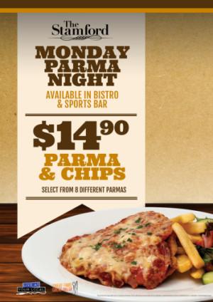 Monday $14.90 Parma Night