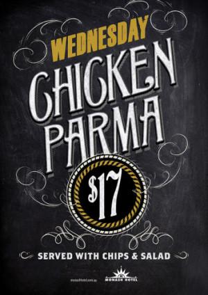 Wednesday Chicken Parma