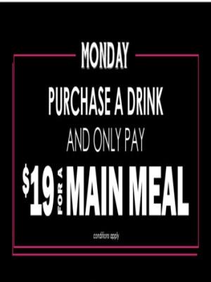 Monday $19 Meals