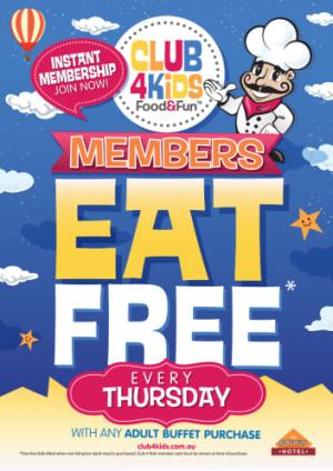Thursday Club 4 Kids Members Eat Free