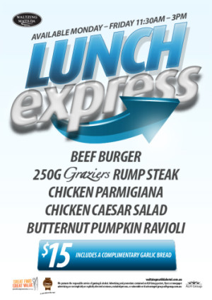 $15 Monday - Friday Lunch Express