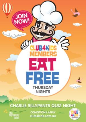 Thursday Night Club 4 Kids Members Eat Free