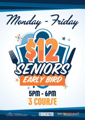 $12 Seniors Early Bird Special