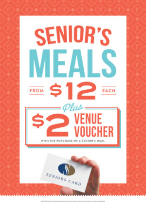 $12 Senior's Meals