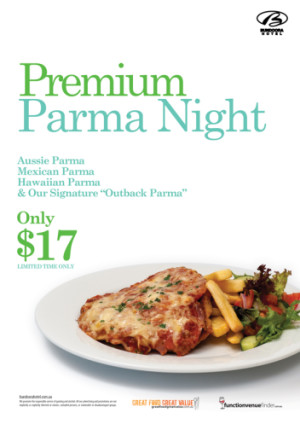 Wednesday $17 Premium Parma Night