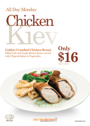 Monday $16 Chicken Kiev