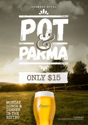 Monday $15 Pot & Parma