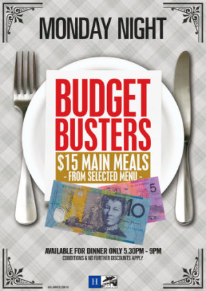 Monday Night Budget Busters