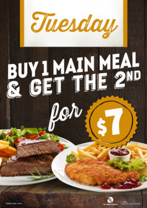 Tuesday Buy 1 Get 1 For $7!