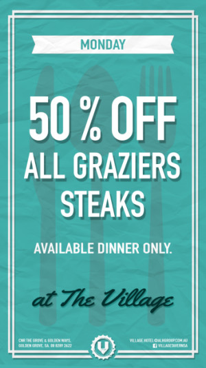 50% Off Graziers Steaks