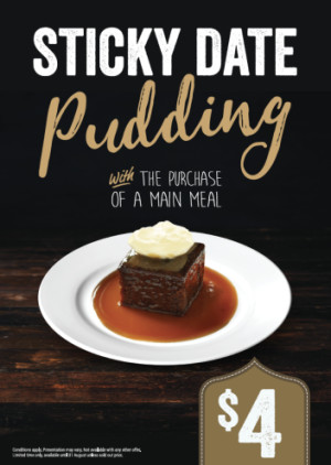 $4 Sticky Date Pudding