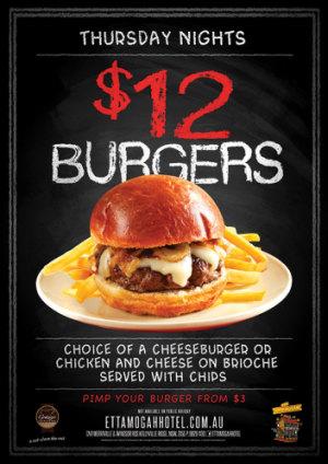 Thursday Night $12 Burger